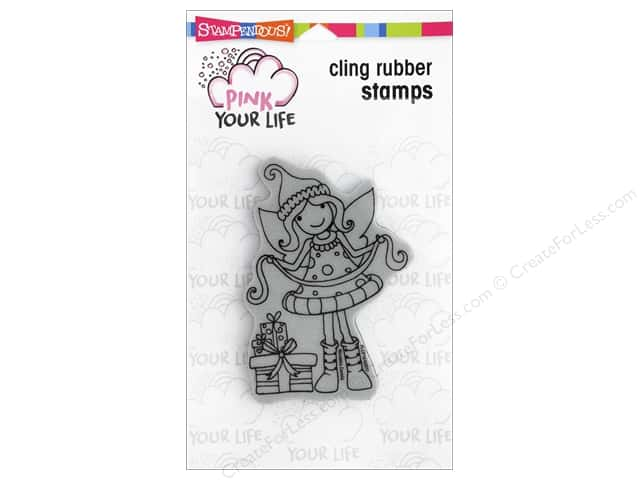 Stampendous Cling Rubber Stamp Whisper Friends Gift Wrapping