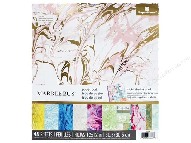 Paper House 12 x 12 in. Paper Pad Marbleous