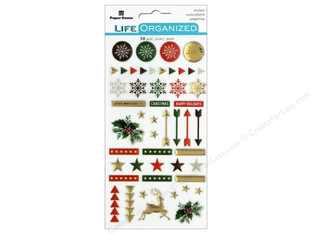 Paper House Collection Life Organized Epoxy Sticker Christmas
