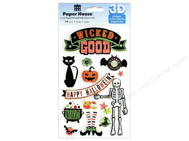 Paper House Sticker 3D Wicked Good