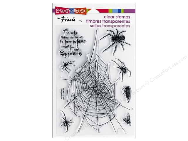 Stampendous Clear Stamp Spider Fear