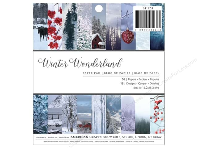 American Crafts Paper Pad 6 in. x 6 in.  Holiday Photo Winter Wonderland