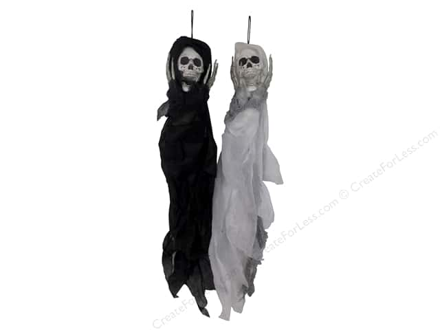 Sierra Pacific Crafts Decor Grim Reaper Assorted 29.5 in. 2  pc Black/White