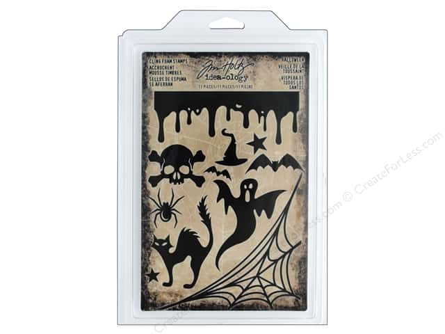 Tim Holtz Idea-ology Halloween Cling Foam Stamp