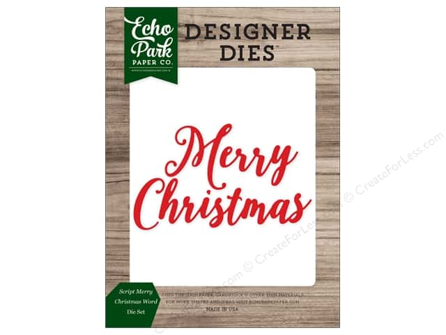 Echo Park Collection Christmas Cheer Die Set Word Christmas