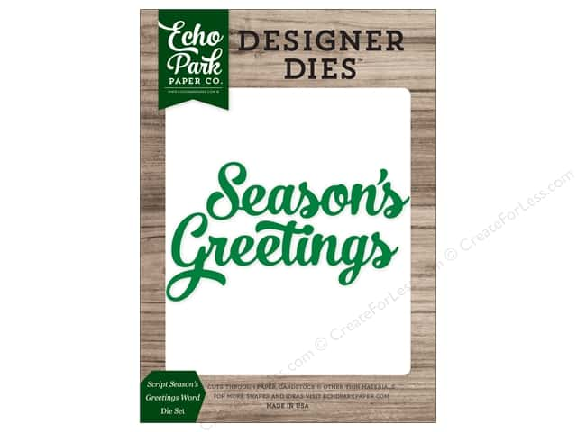 Echo Park Collection Christmas Cheer Die Set Word Greeting