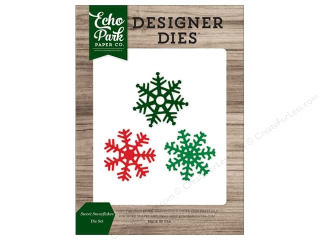 Echo Park Collection Christmas Cheer Die Set Sweet Snowflake