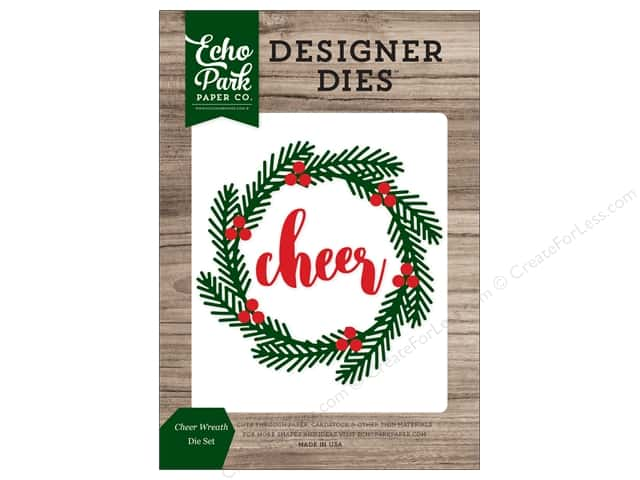 Echo Park Collection Christmas Cheer Die Set Cheer Wreath