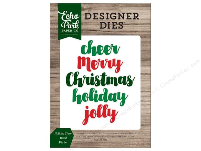 Echo Park Collection Christmas Cheer Die Set Word Holiday Cheer
