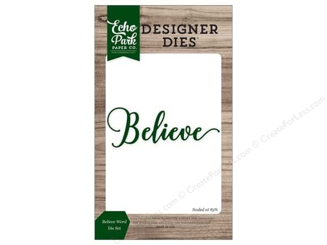 Echo Park Collection Christmas Cheer Die Set Word Believe
