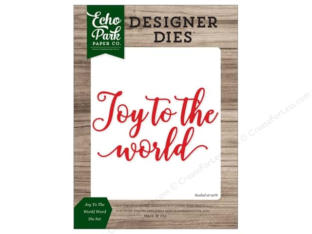 Echo Park Collection Christmas Cheer Die Set Word Joy/World