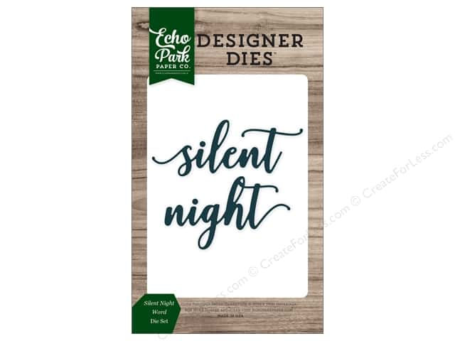 Echo Park Collection Christmas Cheer Die Set Word Silent Night