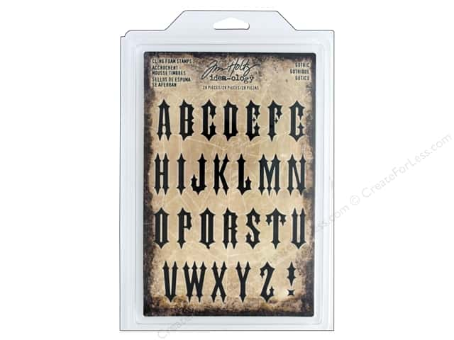 Tim Holtz Idea-ology Halloween Cling Foam Stamp Gothic