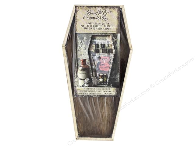 Tim Holtz Idea-ology Halloween Vignette Tray Brown