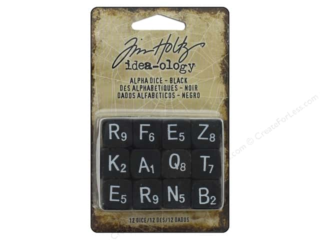 Tim Holtz Idea-ology Halloween Alpha Dice Black