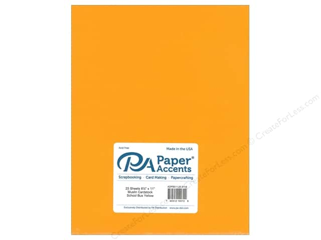 Paper Accents Cardstock 8 1/2 x 11 in. Muslin School Bus Yellow (25 sheets)