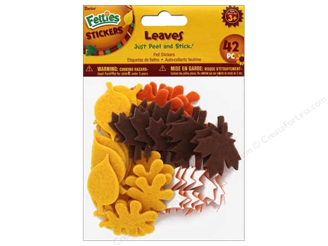 Darice Felties Sticker Harvest Leaves 42 pc