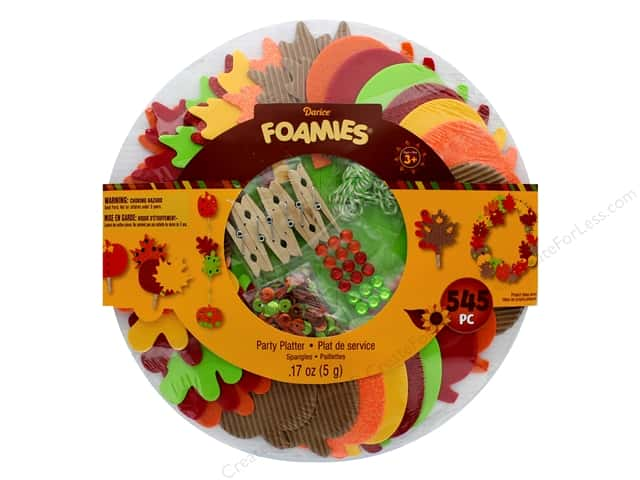 Darice Foamies Kit Thanksgiving Party Platter