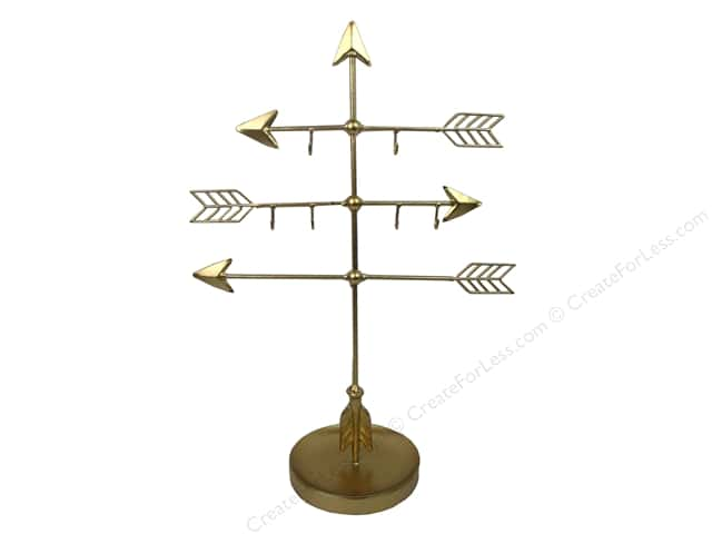 Sierra Pacific Crafts Decor Metal Jewelry Holder Arrows Gold