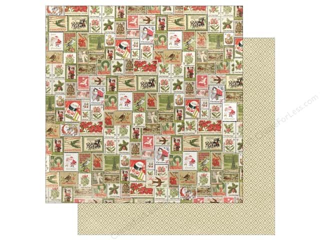 "Authentique Vintage Christmas Paper 12""x 12"" Seven (25 pieces)"