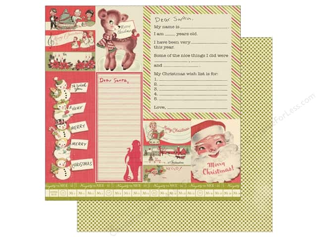 "Authentique Vintage Christmas Paper 12""x 12"" Twelve (25 pieces)"