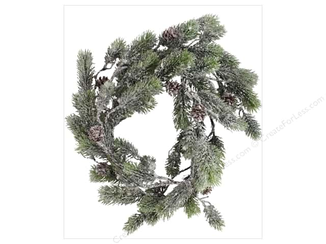 Sierra Pacific Crafts Decor Plastic Spray of Pine & Cones 72 in. Green/White