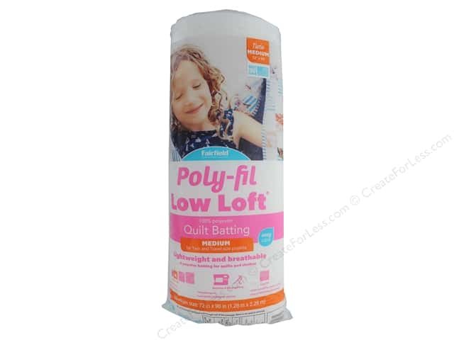 "Fairfield Batting Poly Fil Low Loft 72""x 90"""