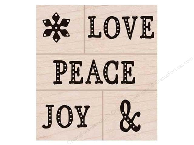 Hero Arts Rubber Stamp Set Peace, Love, Joy