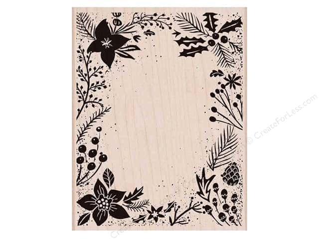 Hero Arts Rubber Stamp Holiday Floral Background