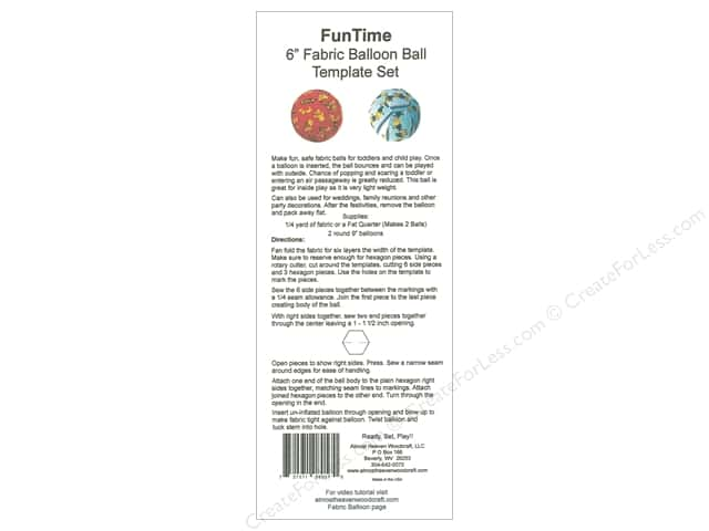 Almost Heaven Woodcraft Template 6 in. Balloon Ball