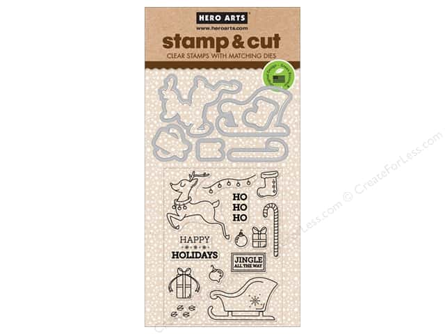 Hero Arts Stamp & Cuts Jingle All The Way
