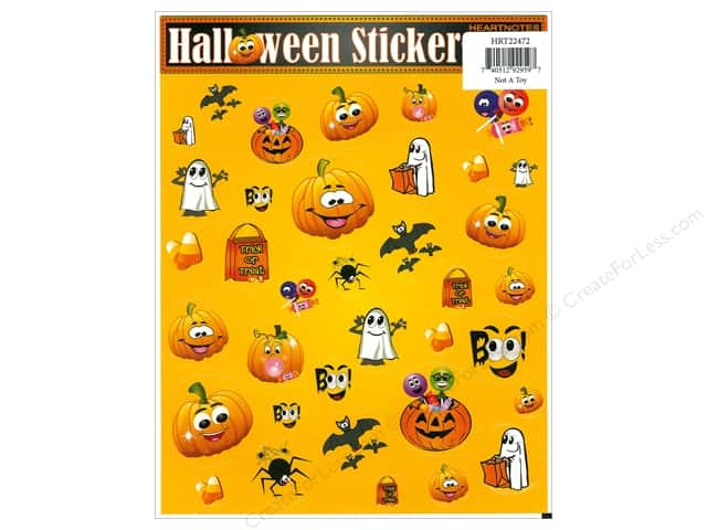 Heartnotes Sticker Candy Corn & Pumpkins