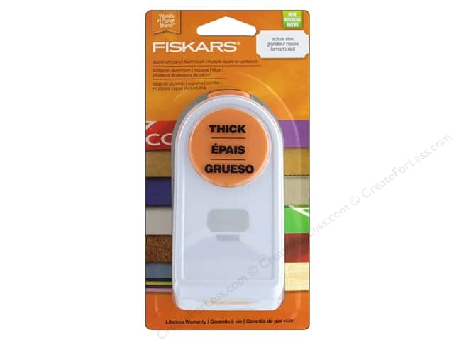 "Fiskars Punch Thick 1.5"" Label"