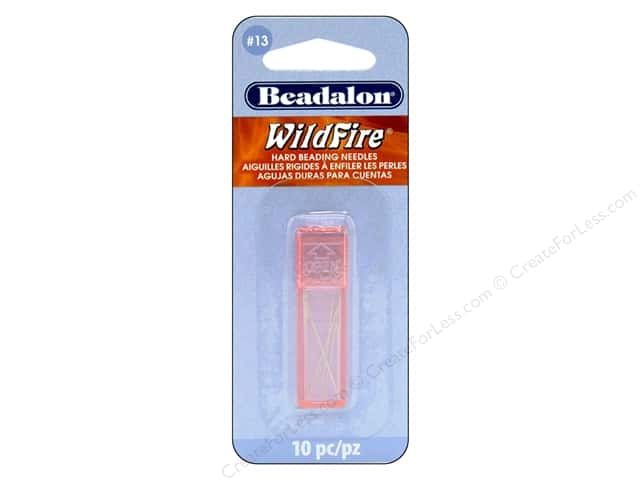 Beadalon Beading Needles Hard Size 13 Wildfire 10 pc