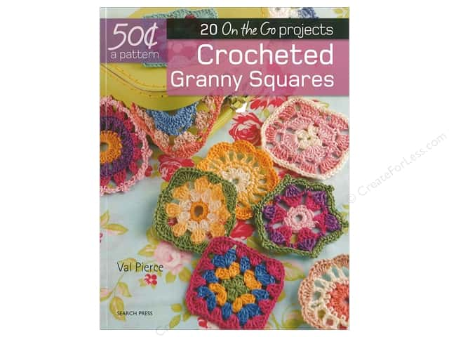 Search Press Books 20 On the Go Crocheted Granny Squares Book