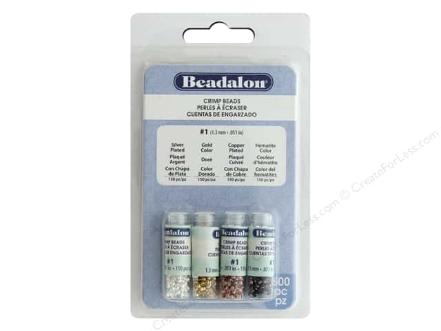 Beadalon Crimp Tubes Variety Pack 2 mm 600 pc.