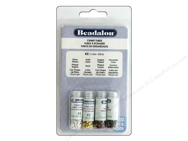 Beadalon Crimp Tubes Variety Pack Size 2 600 pc.