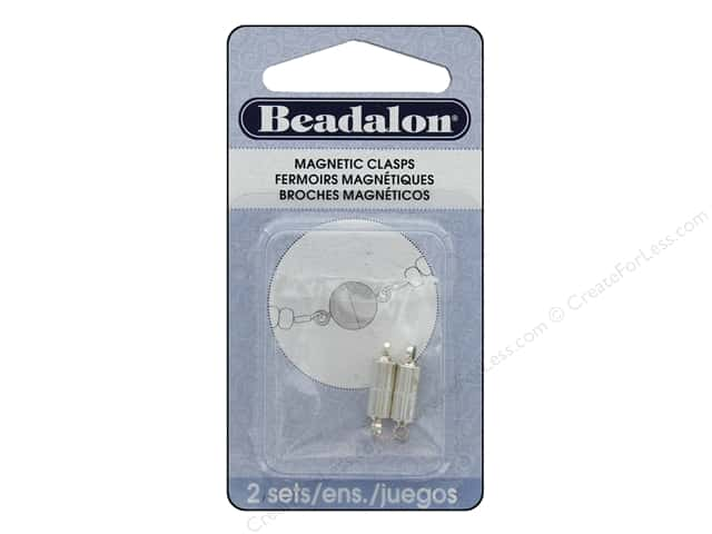 Beadalon Magnetic Clasps Tube 4 1/2 x 9 mm Silver Plated 2 pc