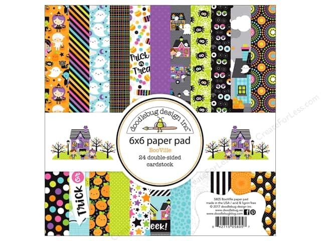 "Doodlebug Booville Paper Pad 6""x 6"" (6 sheets)"