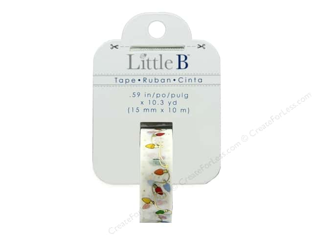 Little B Paper Tape 15 mm Gold Foil Christmas Lights