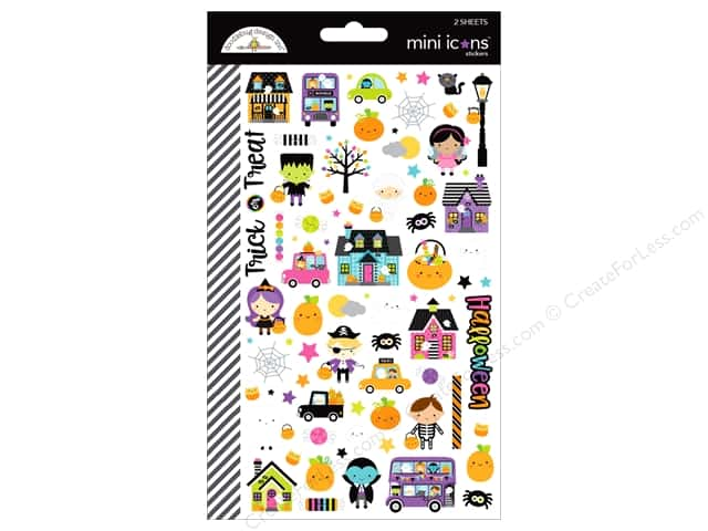 Doodlebug Booville Sticker Mini Icons (12 sets)