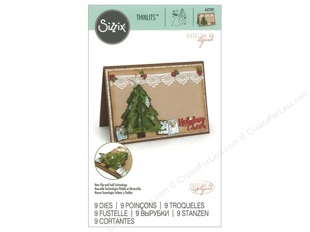 Sizzix Dies Katelyn Lizardi Thinlits Flip and Fold Christmas Tree