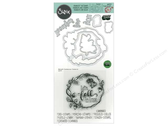 Sizzix Die & Stamp Lindsey Serata Pumpkin Spice Fall In Love