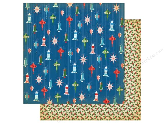 Carta Bella Collection A Very Merry Christmas Paper 12 in. x 12 in. Dainty Ornaments (25 pieces)