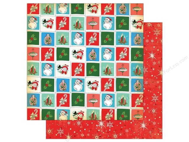 Carta Bella Collection A Very Merry Christmas Paper 12 in. x 12 in. Christmastime Squares (25 pieces)