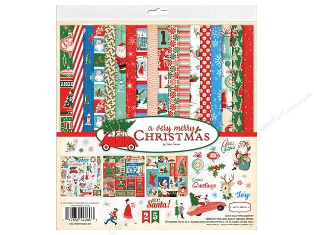 Carta Bella Collection A Very Merry Christmas Collection Kit