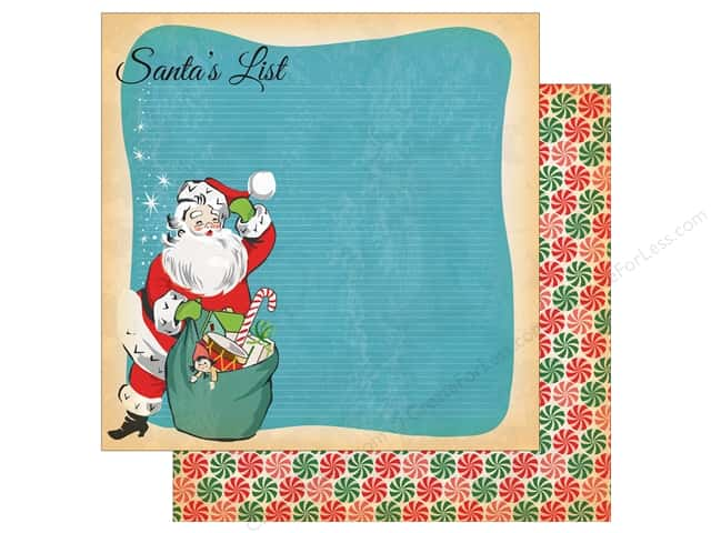 Carta Bella Collection A Very Merry Christmas Paper 12 in. x 12 in. Santa's List (25 pieces)