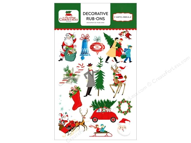 Carta Bella Collection A Very Merry Christmas Rub On