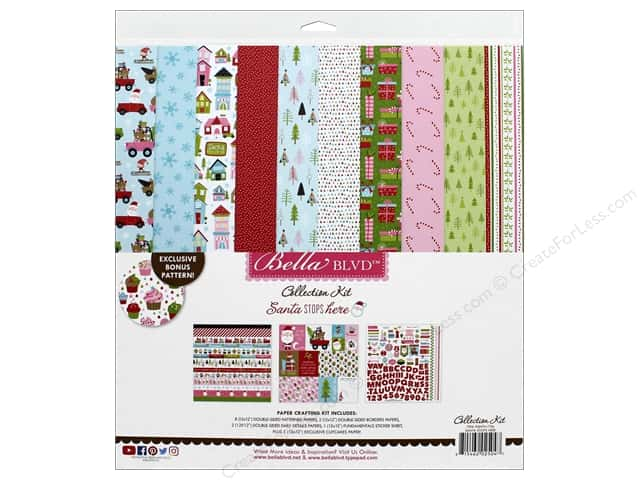Bella Blvd Santa Stops Here Kit 12 x 12 in.