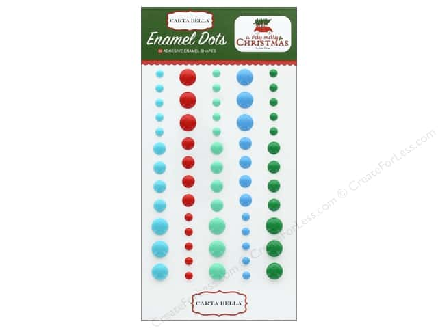 Carta Bella Collection A Very Merry Christmas Enamel Dots
